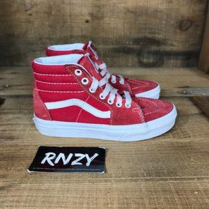 Vans Off The Wall Sk8 High Top Red Suede Sneakers